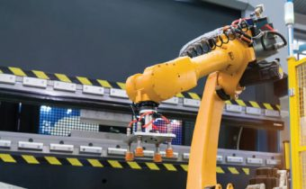 Image Showing The Advancement of Robotic Technology in Steel Industry.
